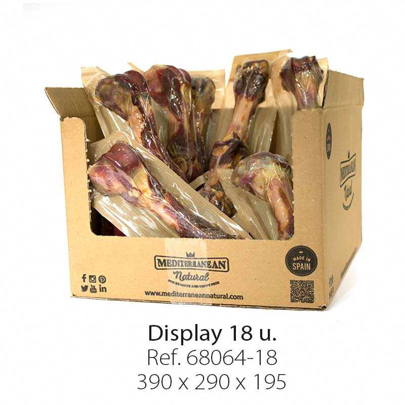 Display 18 units Serrano ham Bone Mediterranean Natural for dogs