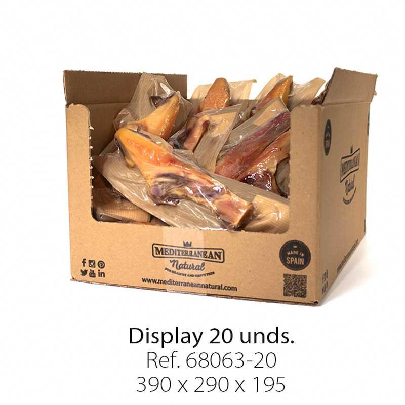 Display 20 unidades brocheta de jamón serrano Mediterranean Natural para perros