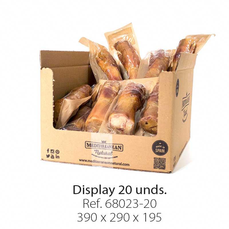 Display 20 unidades pata de jamón serrano Mediterranean Natural para perros