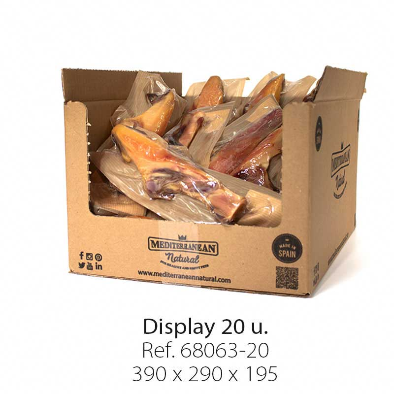 Display 20 units Serrano Ham Knuckles Mediterranean Natural for dogs
