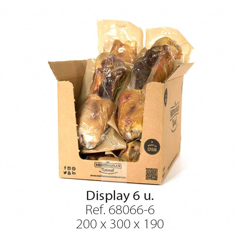 Display 6 units Serrano Mega Meaty Ham Bone Mediterranean Natural for dogs