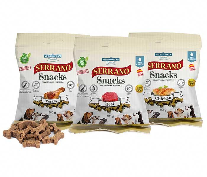 Serrano Snacks de Mediterranean Natural para perros