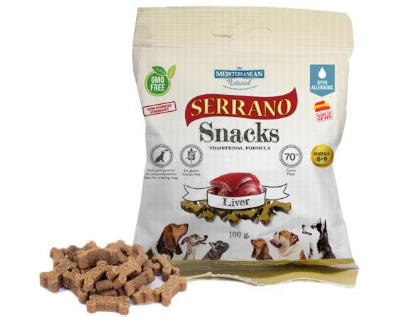 Serrano Snacks hígado para perros de Mediterranean Natural