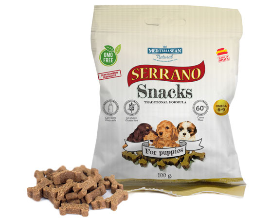 Serrano Snacks para cachorros de Mediterranean Natural