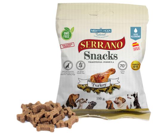 Serrano Snacks pavo para perros de Mediterranean Natural