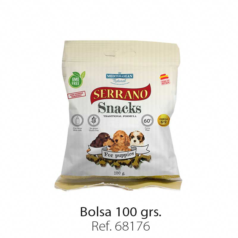 Serrano Snacks semi húmedos para cachorros
