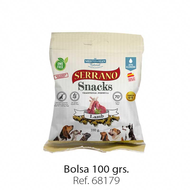 Serrano Snacks semi húmedos para perros cordero