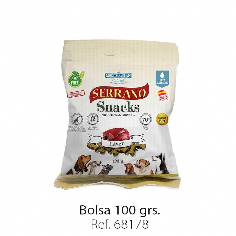 Serrano Snacks semi húmedos para perros hígado