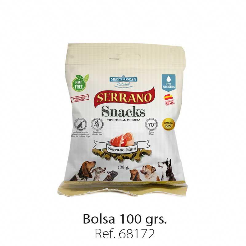 Serrano Snacks semi húmedos para perros jamón serrano