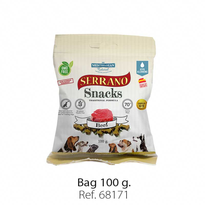 Serrano Snacks semi moist for dogs beef