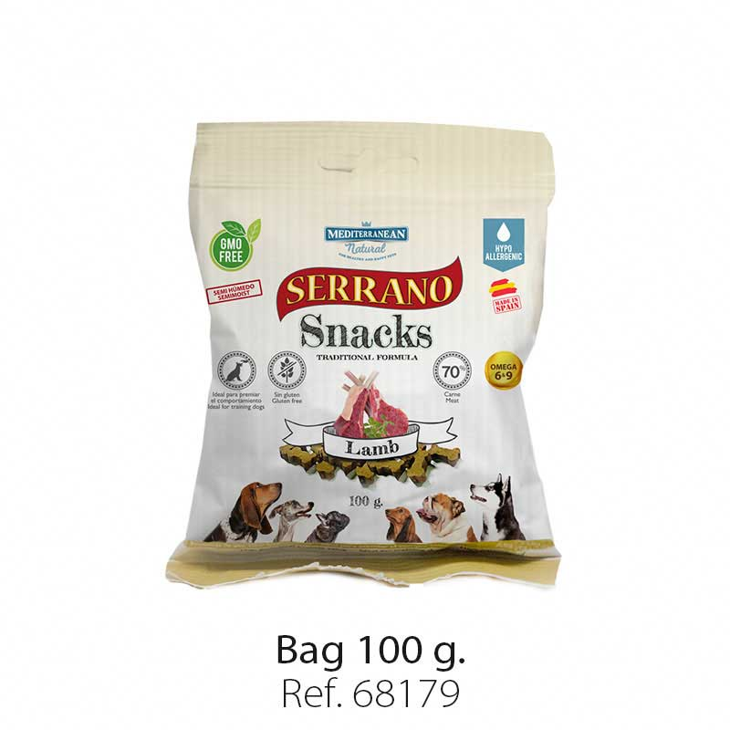 Serrano Snacks semi moist for dogs lamb