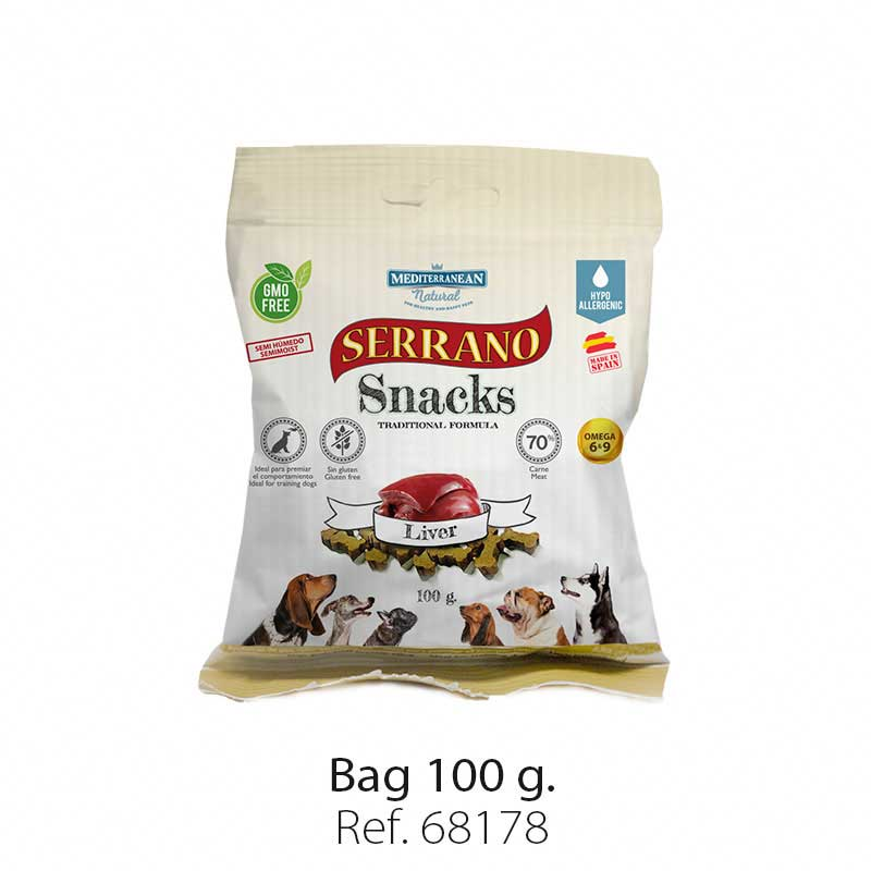 Serrano Snacks semi moist for dogs liver