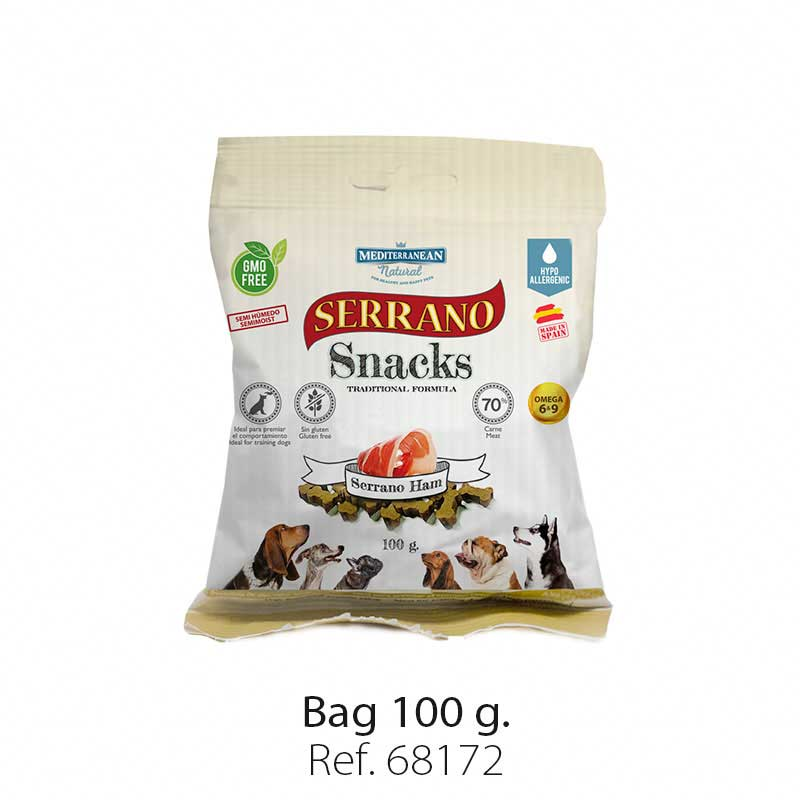 Serrano Snacks semi moist for dogs serrano ham