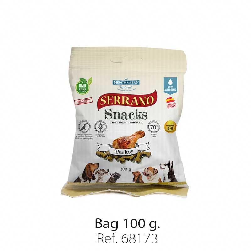 Serrano Snacks semi moist for dogs turkey