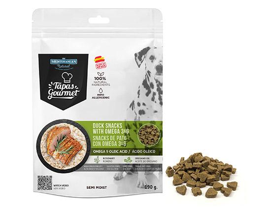 Bolsa de Tapas Gourmet de pato para perros de Mediterranean Natural