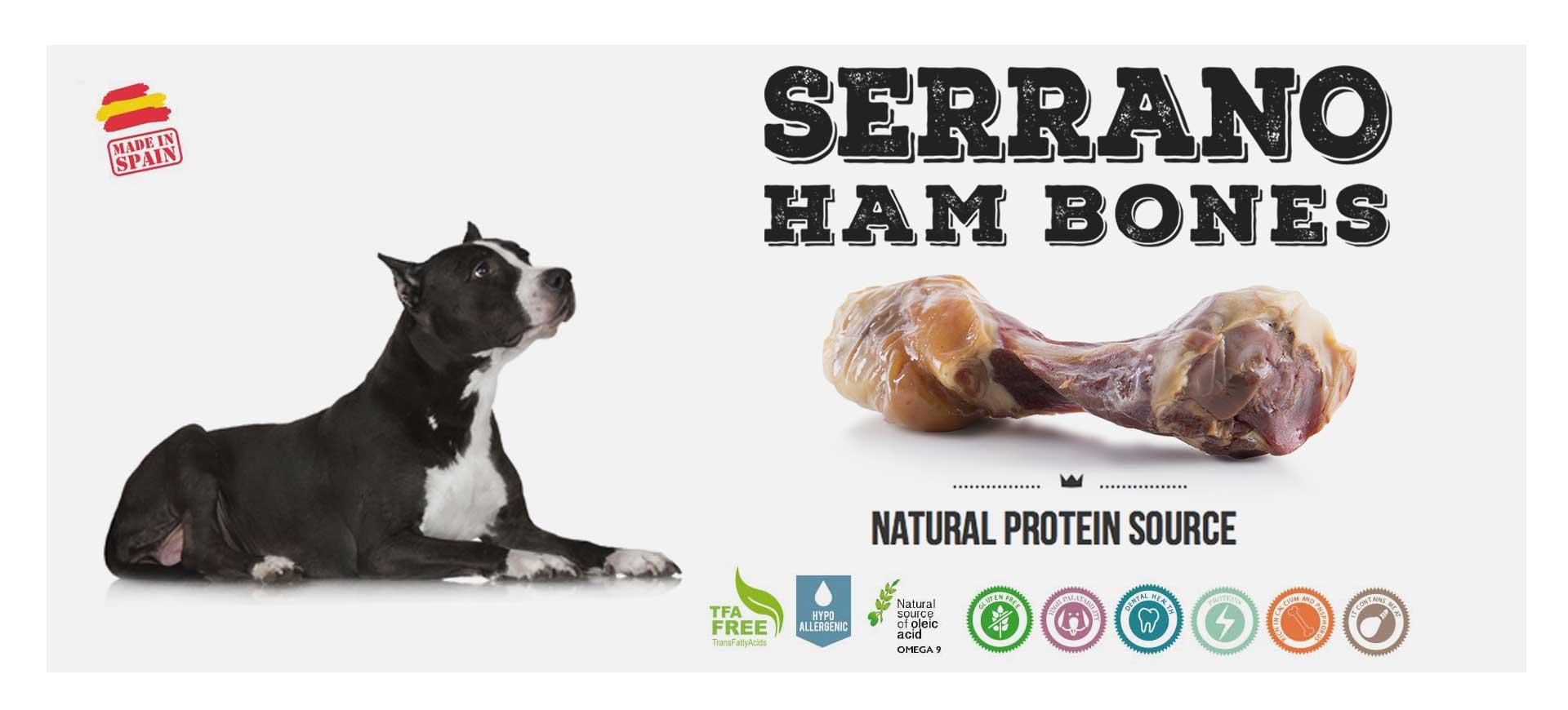 Serrano ham Bones for dogs Mediterranean Natural
