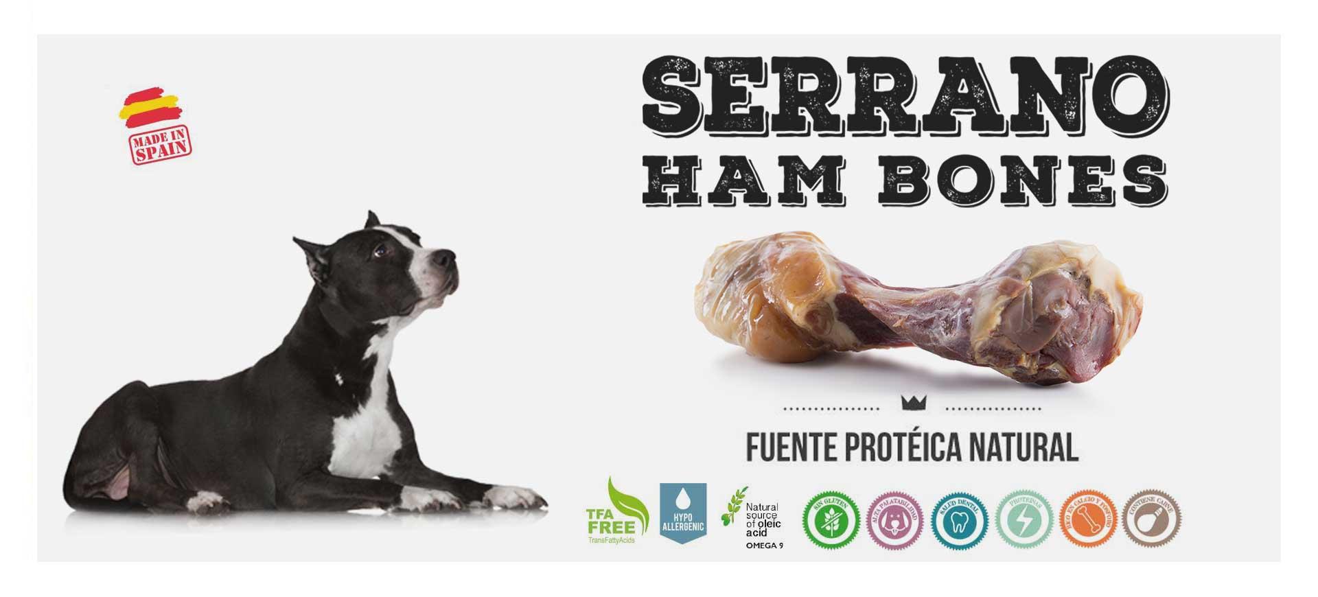 Huesos de jamón serrano para perros de Mediterranean Natural