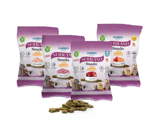 Serrano Snacks para gatos de Mediterranean Natural