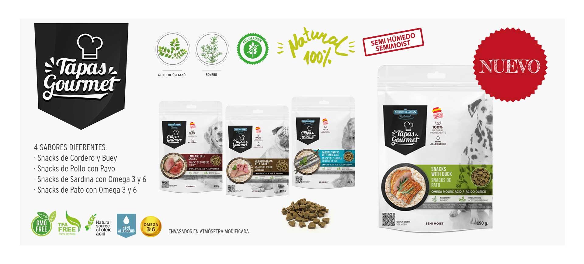 Tapas Gourmet para perros de Mediterranean Natural