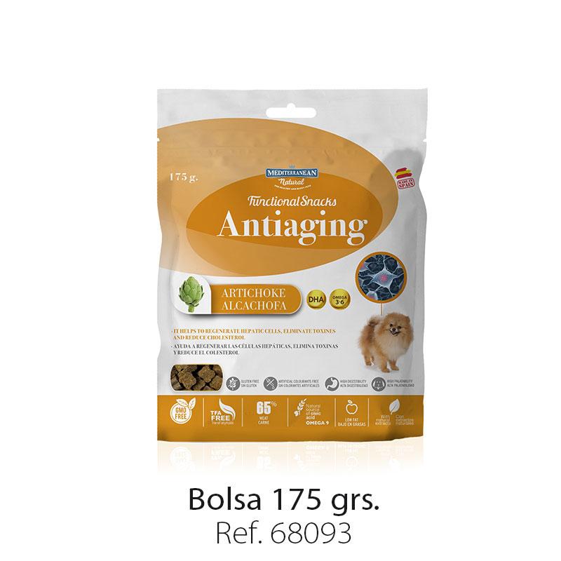 Bolsa snacks funcionales antiedad para perros Mediterranean Natural