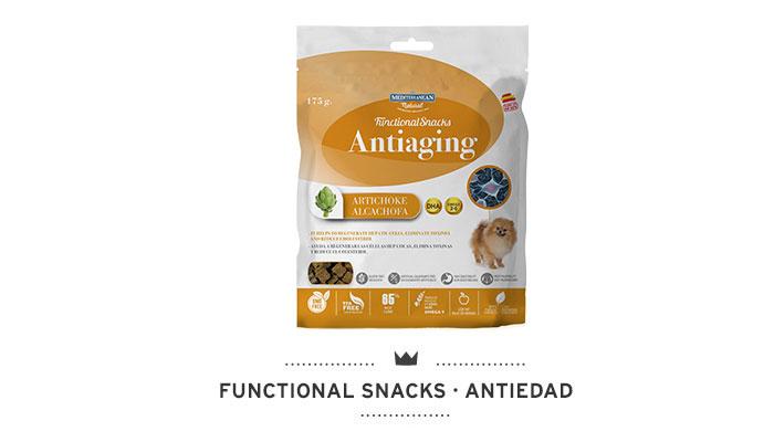Functional Snacks antiedad para perros Mediterranean Natural