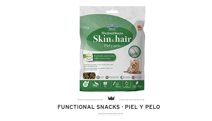 Functional Snacks piel y pelo para perros Mediterranean Natural