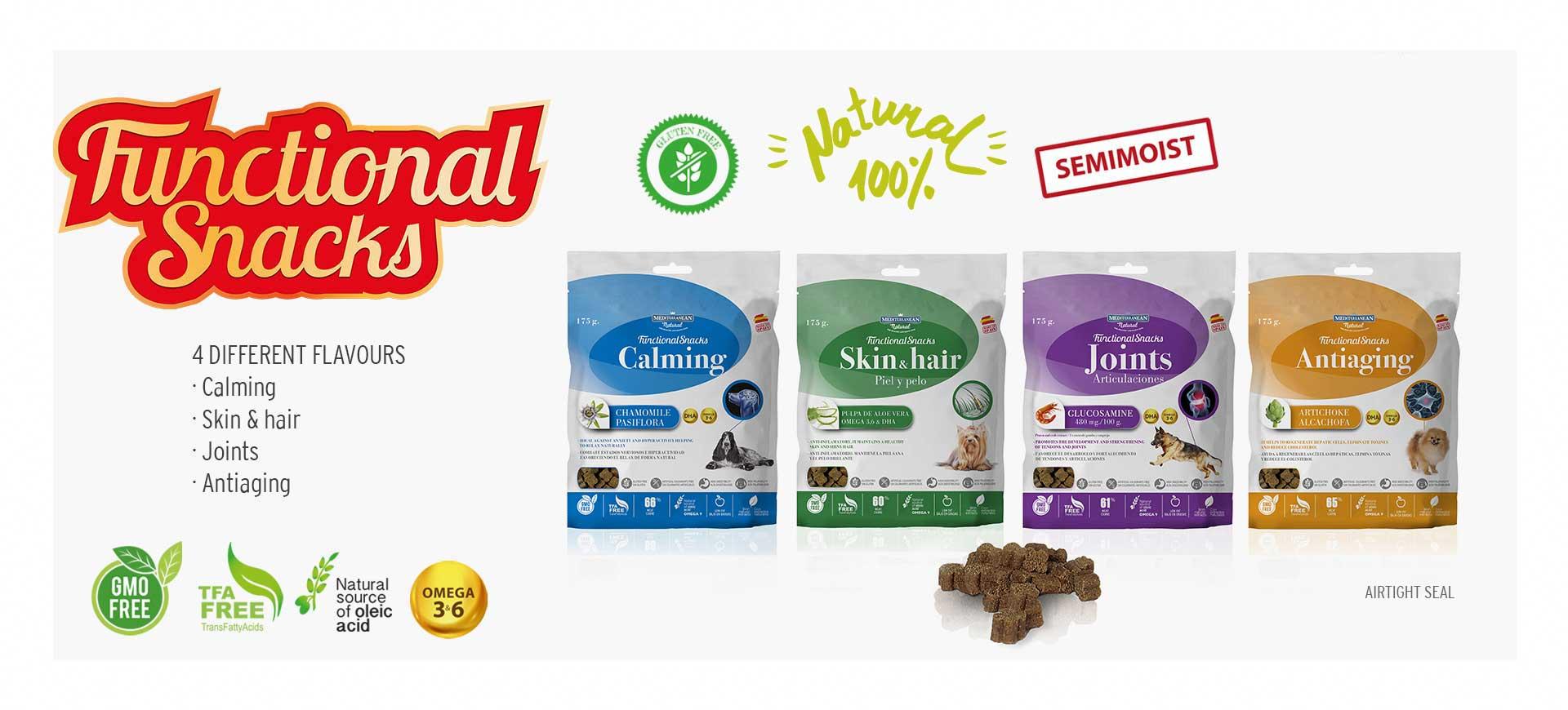 Slider Functional Snacks of Mediterranean Natural for dogs