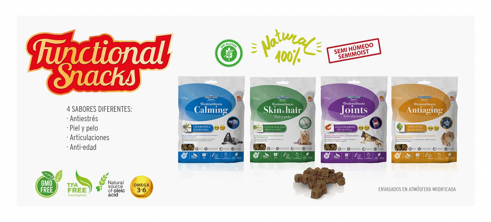 Slider Functional Snacks de Mediterranean Natural para perros