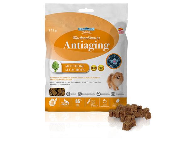 Snacks funcionales para perros con alcachofa de Mediterranean Natural
