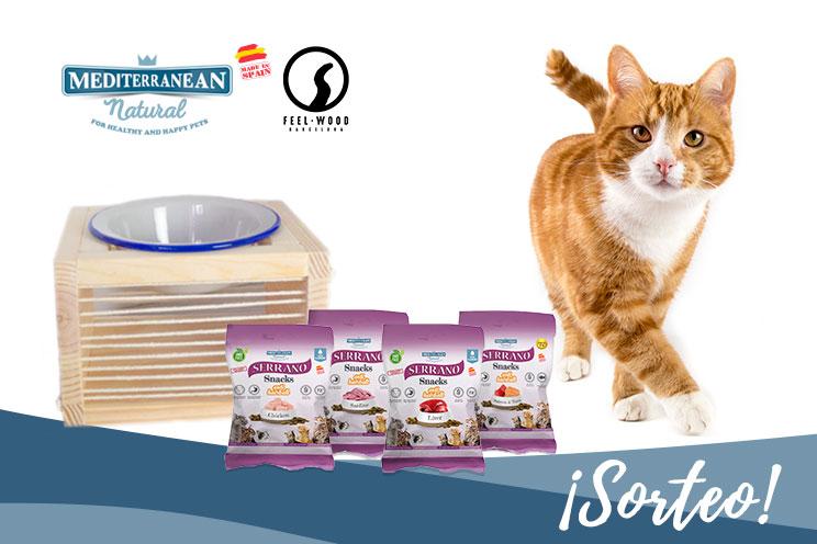 Sorteo: ¡Llévate gratis nuestros Serrano Snacks y este bebedero-comedero para tu gato!