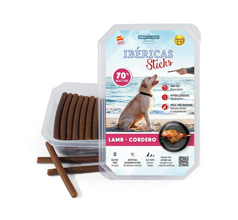 Estuche Ibericas Sticks 800 gramos Cordero Mediterranean Natural Para Perros