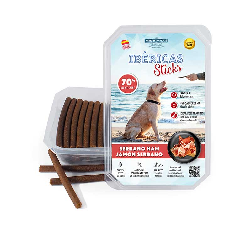 Estuche Ibericas Sticks 800 gramos Jamón Serrano Mediterranean Natural Para Perros