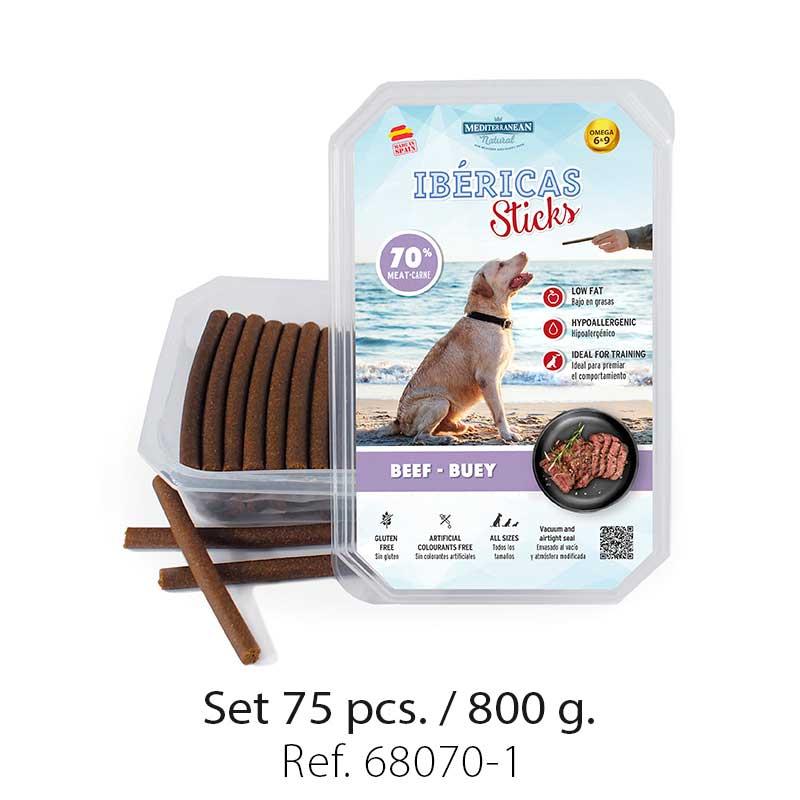 Set 800 gramos Ibericas Sticks Beef Mediterranean Natural For Dogs 1