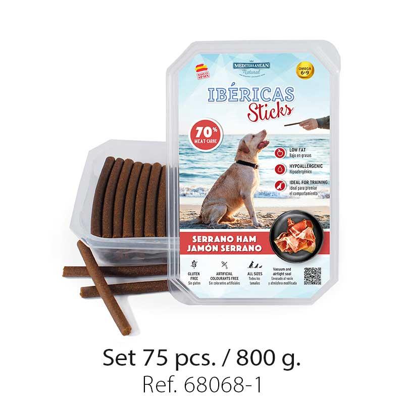 Set 800 gramos Ibericas Sticks Serrano Ham Mediterranean Natural For Dogs 1