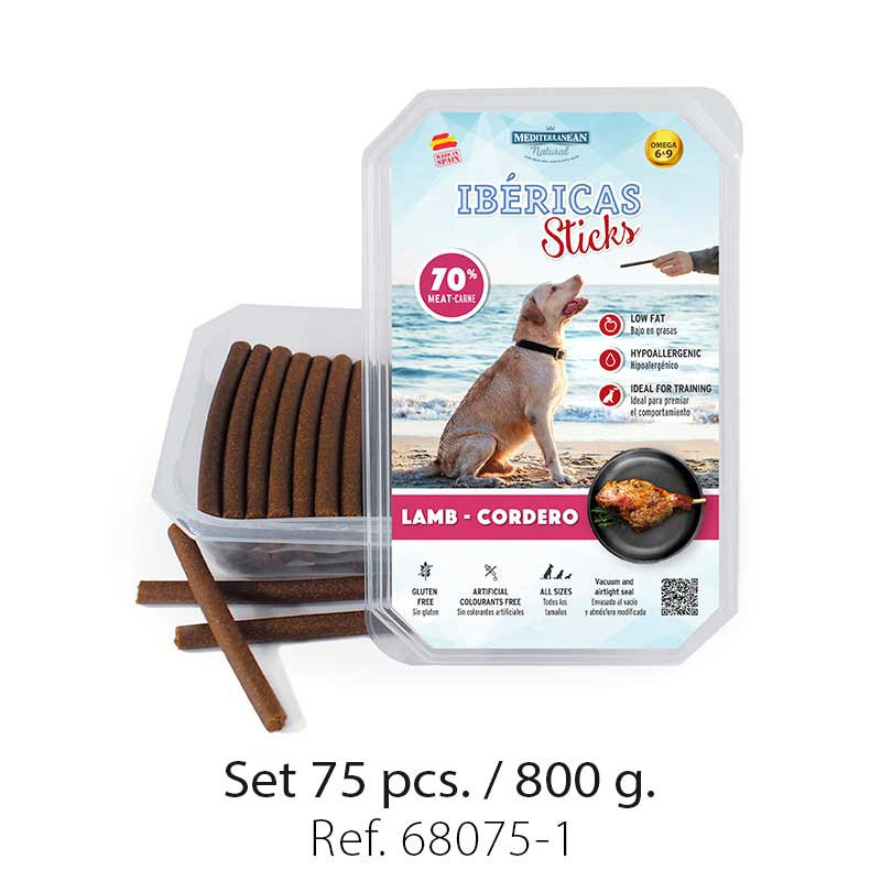 Set 800 gramos Ibericas Sticks Lamb Mediterranean Natural For Dogs 1