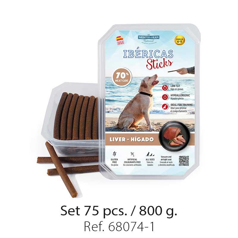 Set 800 gramos Ibericas Sticks Liver Mediterranean Natural For Dogs 1