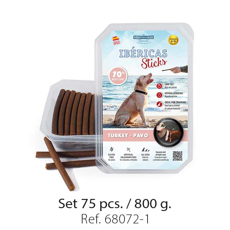 Set 800 gramos Ibericas Sticks Turkey Mediterranean Natural For Dogs 1