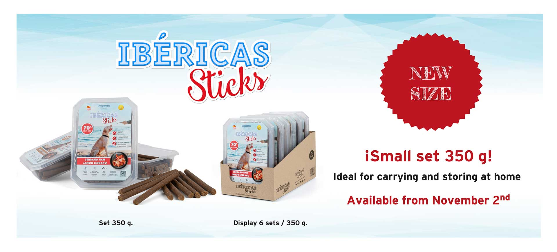 Banner new set Ibéricas Sticks for dogs Mediterranean Natural