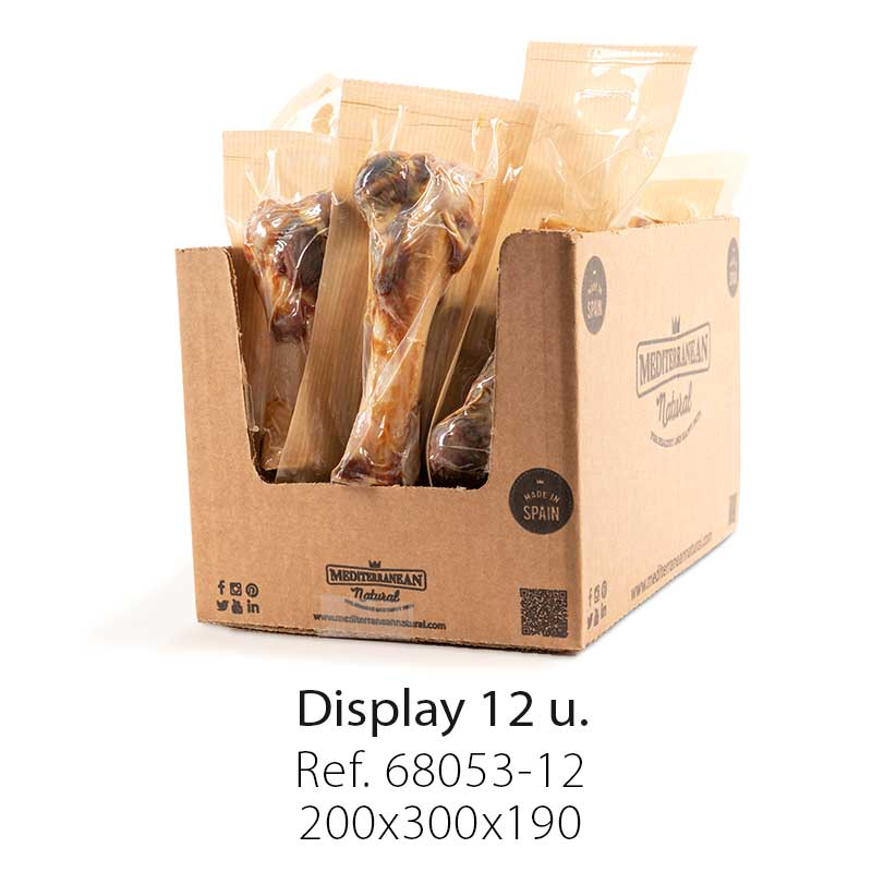 Display Half Ham Bone 12 Unitis Mediterranean Natural For Dogs