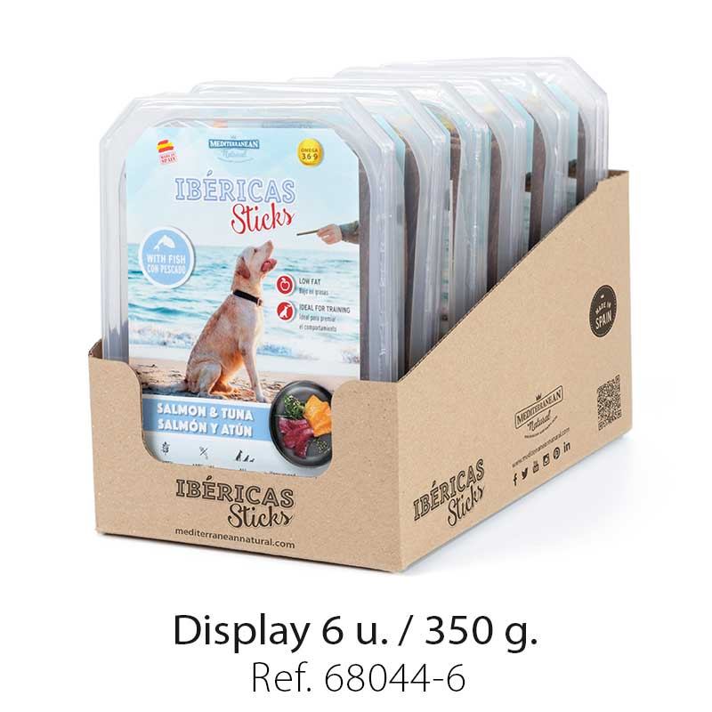 Display Ibericas Sticks Salmon and Tuna 350g Mediterranean Natural For Dogs