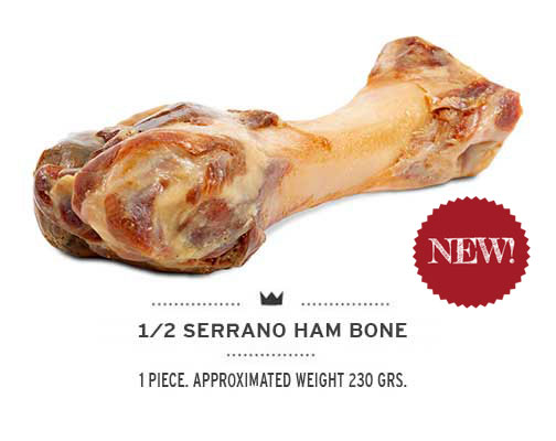 Serrano half Ham Bone banner 2 Mediterranean Natural for dogs. New