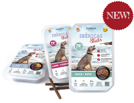 Set Ibéricas Sticks 800 gr Mediterranean Natural for dogs. New