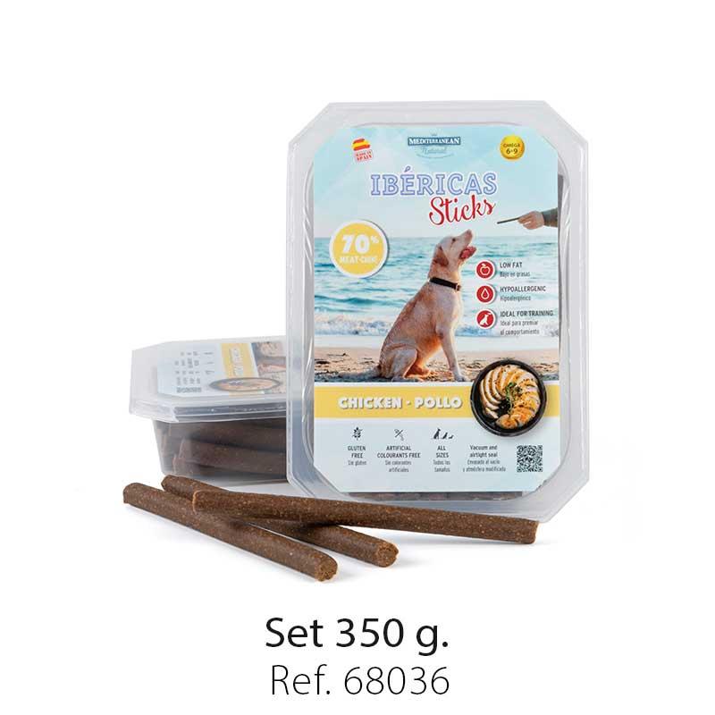 set ibericas sticks chicken 350g mediterranean natural for dogs