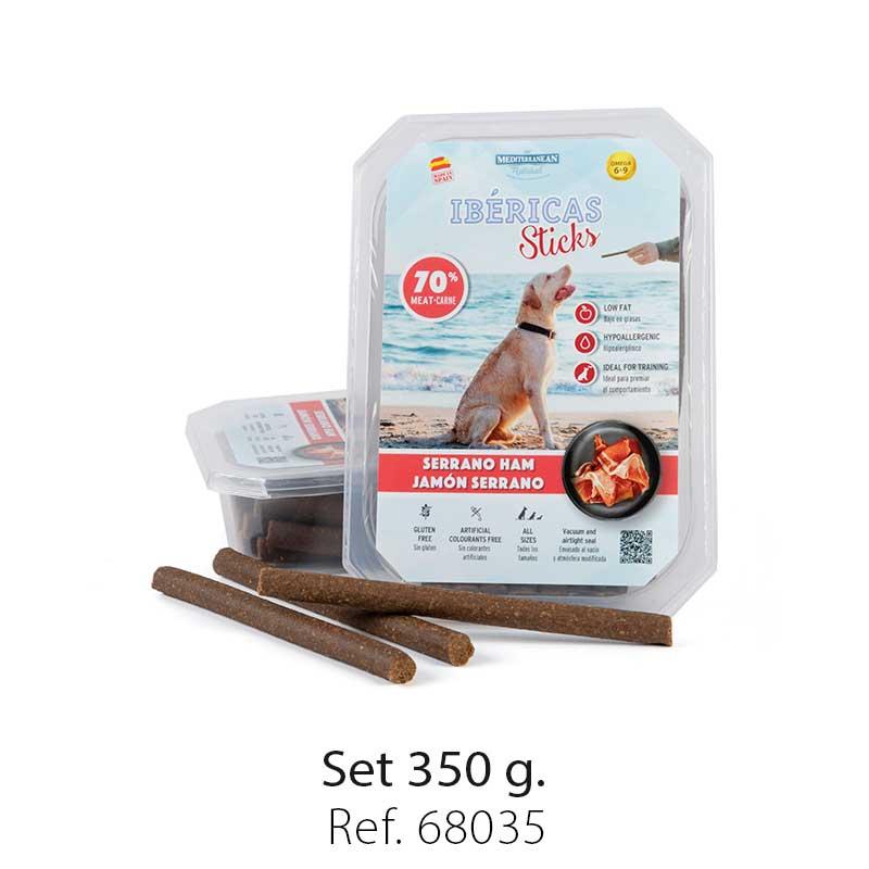 set ibericas sticks serrano ham 350g mediterranean natural for dogs