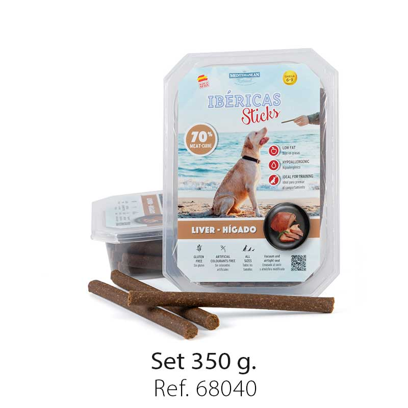 set ibericas sticks liver 350g mediterranean natural for dogs
