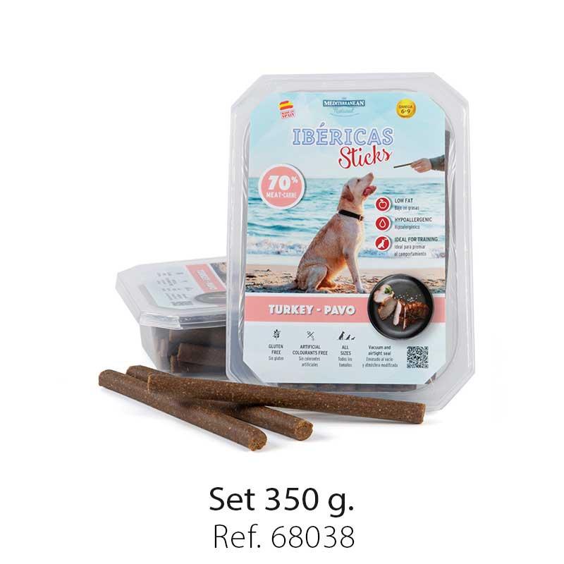 set ibericas sticks turkey 350g mediterranean natural for dogs