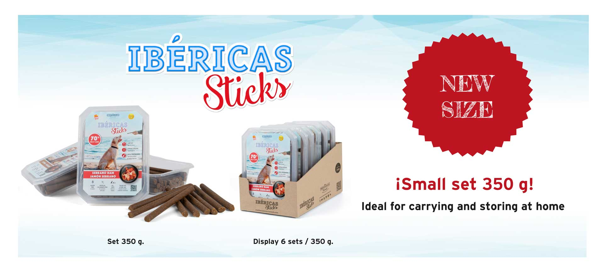 New Ibericas Sticks 350 grams for dogs Mediterranean Natural