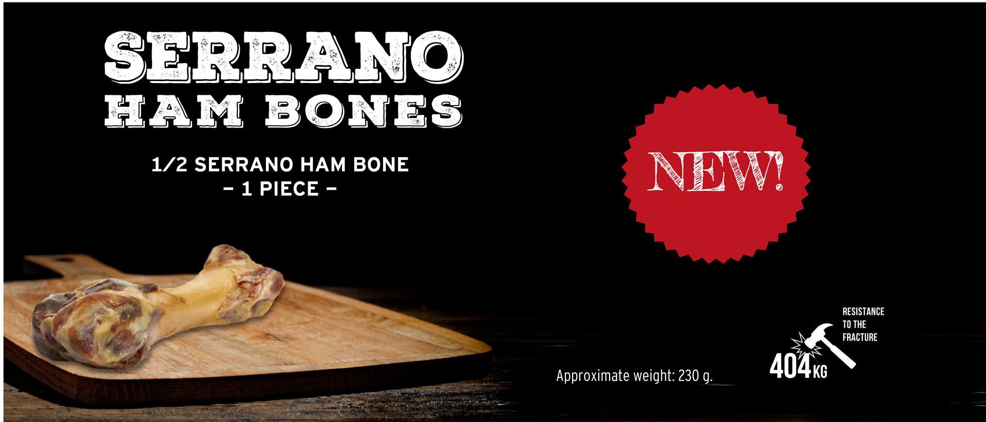 New half serrano ham bone for dogs Mediterranean Natural