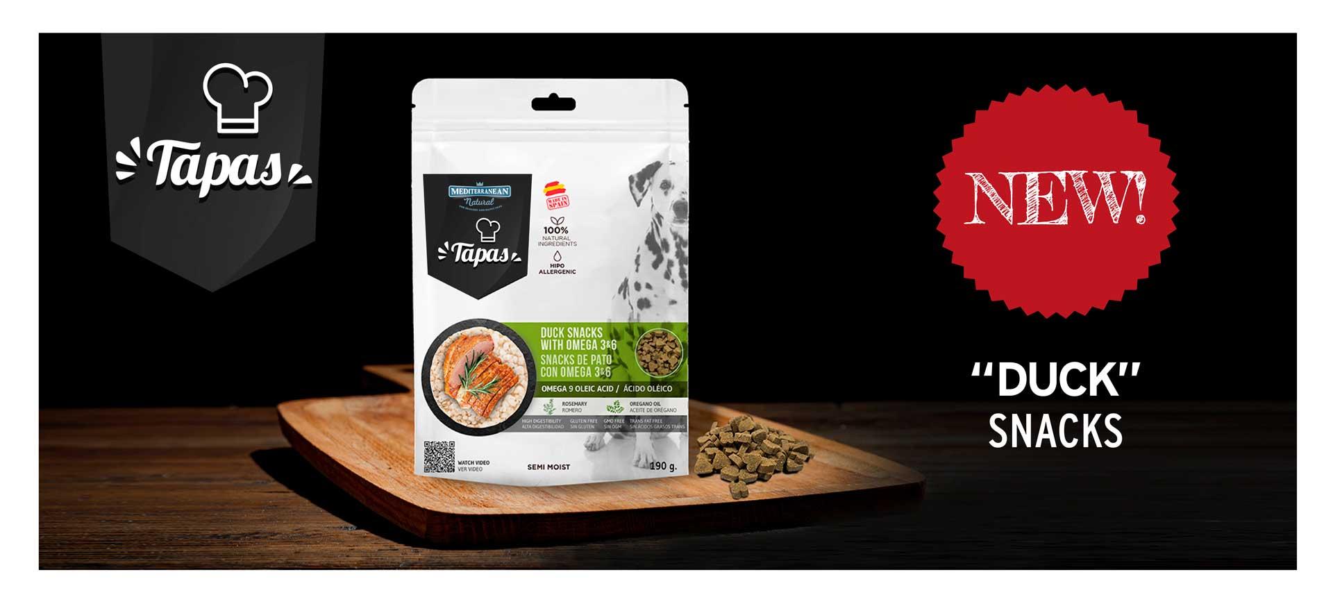 Banner Tapas Mediterranean Natural duck treats for dogs