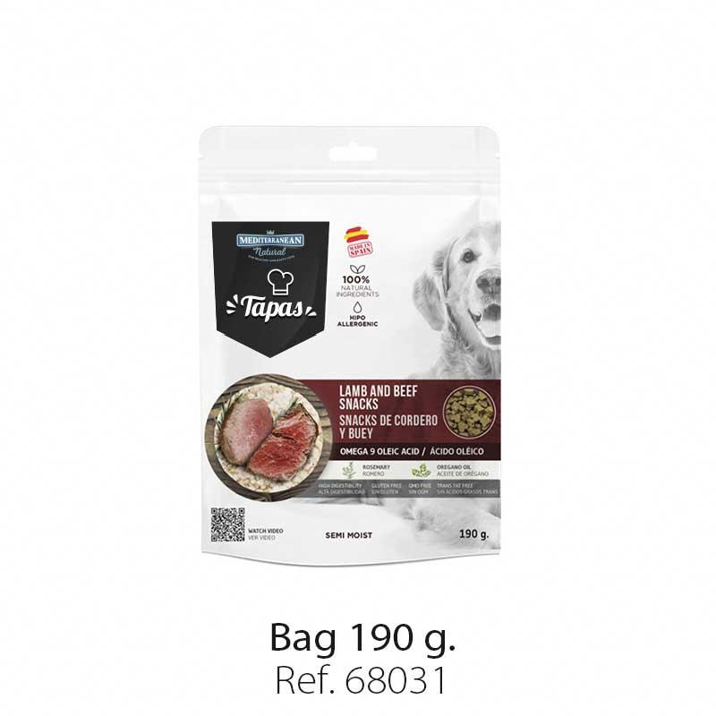 Bag Tapas Mediterranean Natural lamb and beef